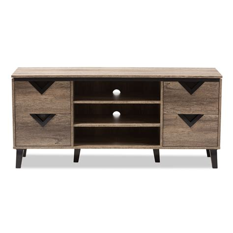 light brown tv stand baxton studio beacon modern and contemporary light brown