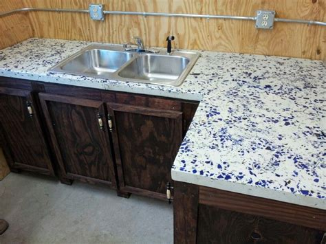 blue concrete countertops recycled blue glass with white concrete countertop for