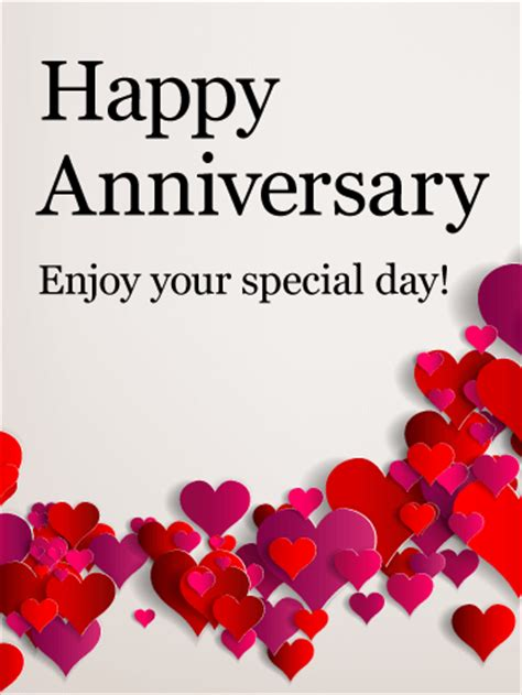 enjoy  special day happy anniversary card birthday greeting cards  davia