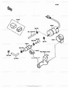 Kawasaki Motorcycle 1992 Oem Parts Diagram For Fuel Pump