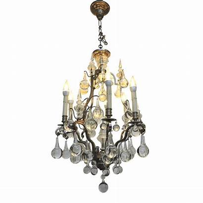 Chandelier Crystal French Lighting Bronze Chandeliers Six
