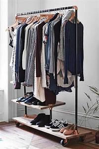 Petit Portant Vetement : petit dressing solutions pratiques de rangement ~ Nature-et-papiers.com Idées de Décoration