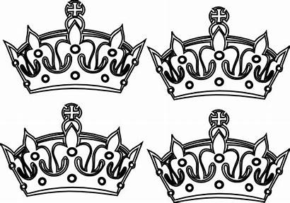 Crowns Crown Coloring Prince Drawing Four Tattoo