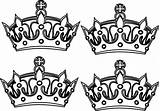 Crowns Crown Coloring Prince Drawing Four King Queen Pages Clip Clipart Tattoo Vector Colouring Sheet Clker Cliparts Sketch Drawings Designs sketch template