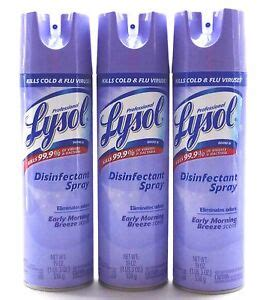 3 Professional Lysol Disinfectant Spray Early Morning