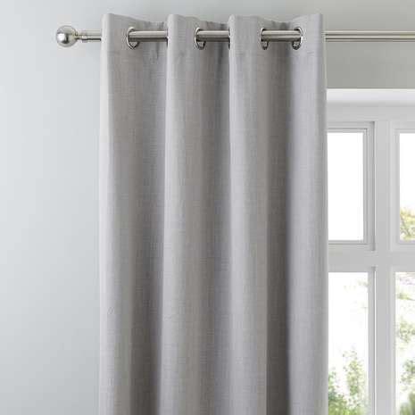 solar grey thermal blackout eyelet curtains dunelm