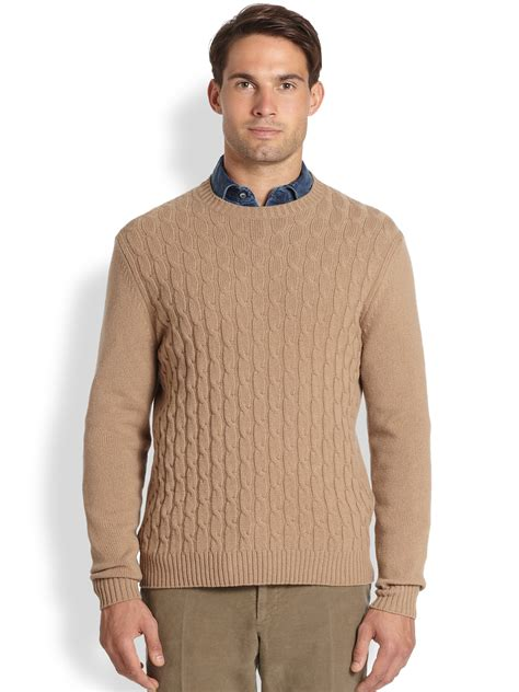 cable sweater mens slowear zanone wool cable knit sweater in for
