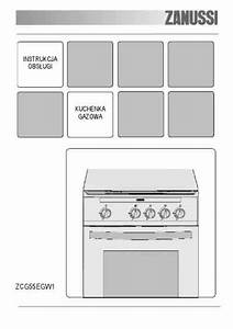 Zanussi Zcg55egw1 Cooker   Stove Download Manual For Free