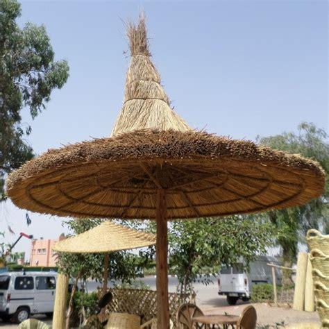 parasol en rotin  bois artisanat marocain marrakesh