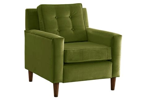 Green Armchair by Winston Velvet Accent Chair Apple Green From One