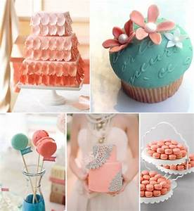 Coral wedding theme ideas weddings by lilly for Coral and turquoise wedding ideas