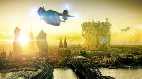 wallpaper deus  mankind divided future city