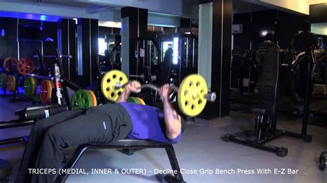 Decline Bench Grip Triceps Press by Triceps Medial Inner Outer Decline Grip Bench