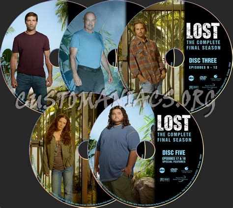 Lost Season 6  Final Five Edition Dvd Label  Dvd Covers