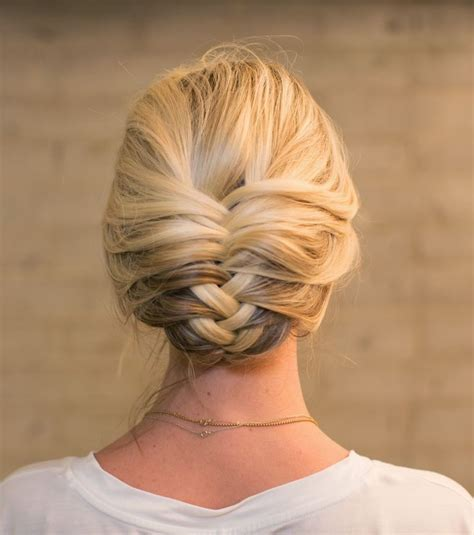 braids in updo hairstyle fishtail braids you should not miss pretty designs