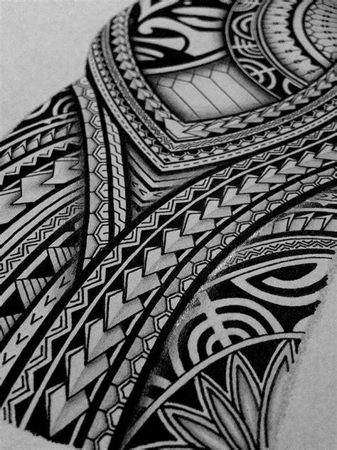 I created a Polynesian half sleeve tattoo design for my