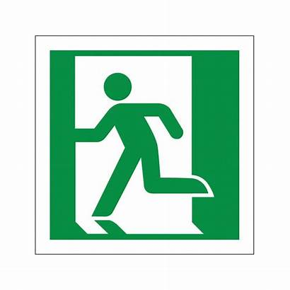 Running Signs Symbol Safety Left Exit Fire