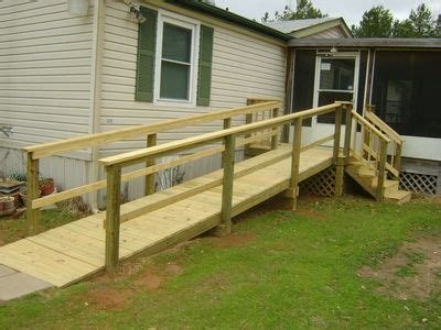 mobile home ramp  stairs  front landing   wheelchair ramp porch  ramp wooden
