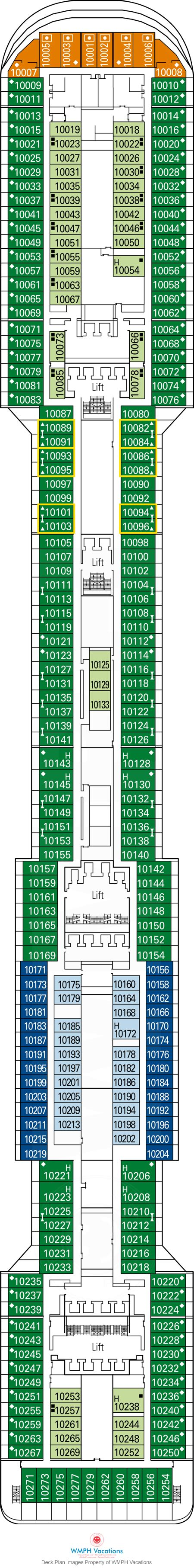 Msc Divina Deck Plan 12 by Msc Divina Deck Plans Deck 10 What S On Deck 10 On Msc