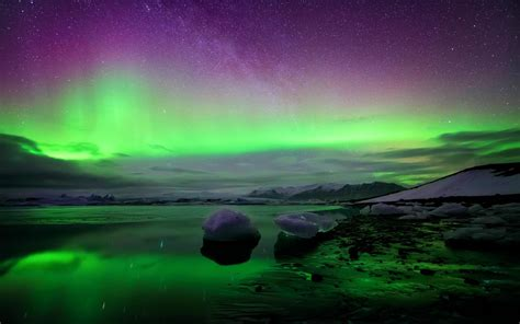 Northern Lights Iceland by Iceland Northern Lights Hd Desktop Wallpaper Widescreen