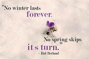 11 Inspirationa... Spring And Snow Quotes