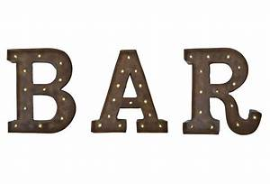 13quot bar individual letters signs from one kings lane decor With individual letters for signs