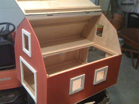 wood work barn shaped toy box plans  plans