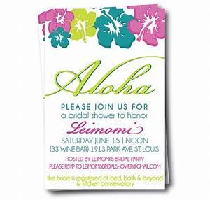 Bridal shower invitations hawaiian themed bridal shower for Wedding shower invitations hawaiian theme