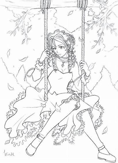 Deviantart Autumn Coloring Pages Animal Lineart Back2life