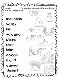 This Landforms Worksheets Allows Students To Match The