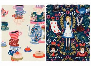 This Alice in Wonderland-Inspired Fabric Collection Is