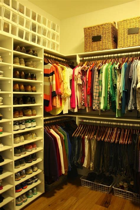 Closet Organization Ideas Shoes by Master Closet Organization Note The Shelves For Shoes