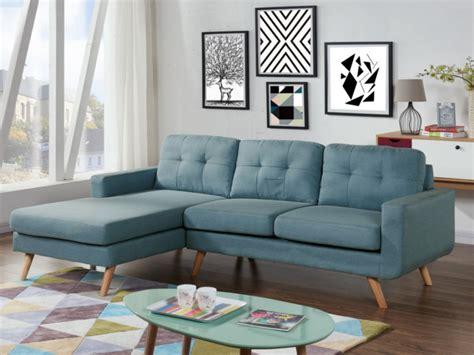 canapé d angle bleu canapé d 39 angle en tissu bleu angle gauche sigrid
