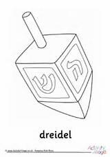 Dreidel Hanukkah Colouring sketch template
