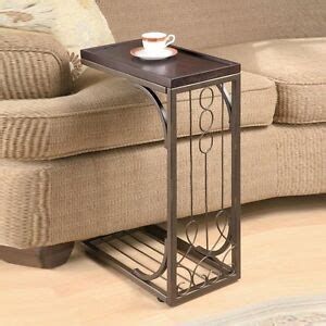 Living Room Side Stand by Accent Living Room Burnished Cooper Base Snack Sofa Side