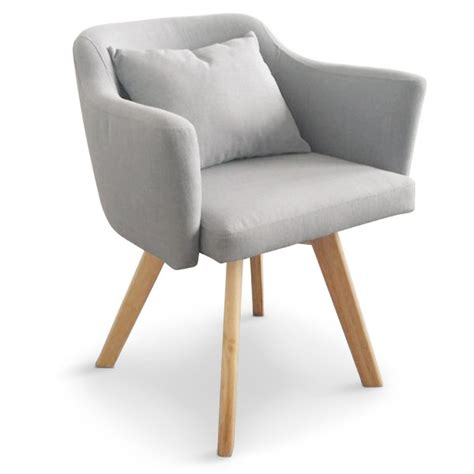 chaise tissu gris chaise fauteuil scandinave lago tissu gris coin du design