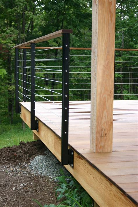 deck railing cable deck railing designs woodworking projects plans
