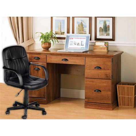 better homes and gardens desk and leather mid back office