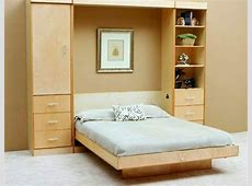 Wall cabinet with folding bed – living ideas for practical