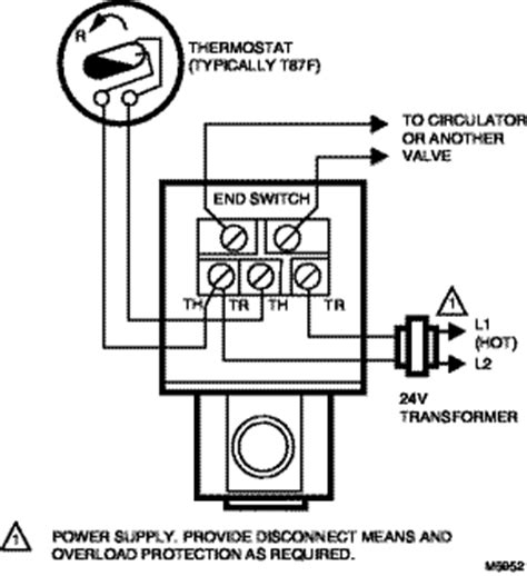 Honeywell 3 Way Valve Diagram by Wiring Typical Wiring For V8043f