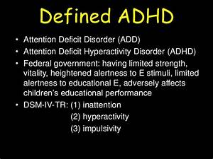 L6 attention deficit hyperactivity disorder