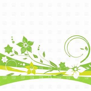 Green floral wavy border Royalty Free Vector Clip Art ...