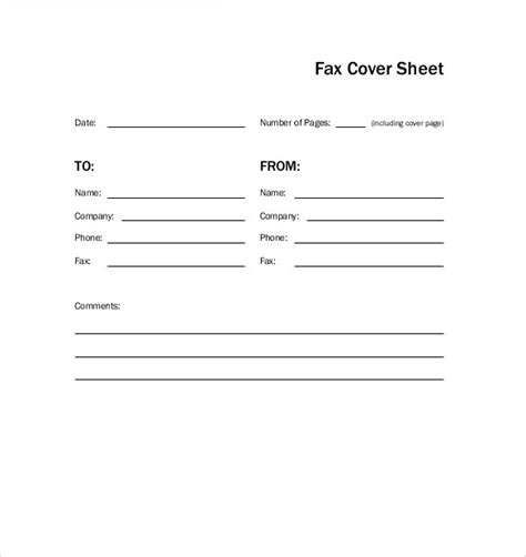 12373 free basic fax cover sheet 11 cover sheet templates free sle exle format