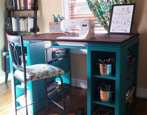 sewing machine desk ideas ana white the perfect sewing table diy projects