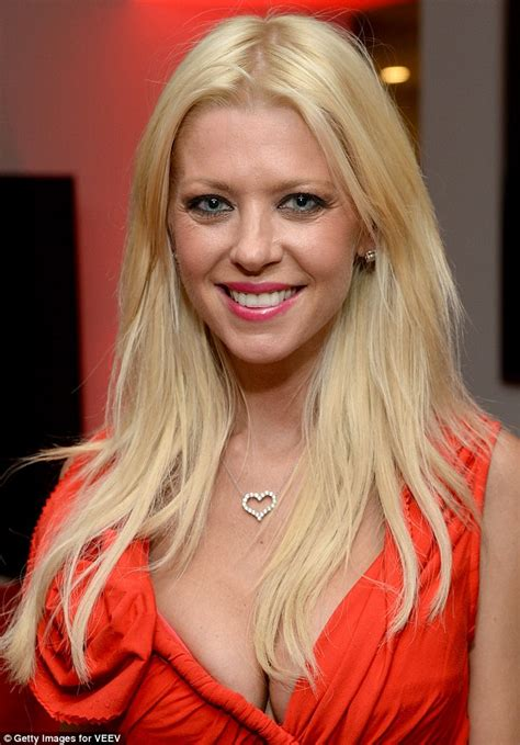 Tara Reid Hugs Her Petite Frame Tight Crimson Dress