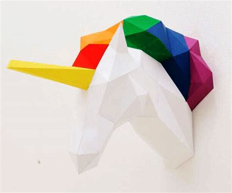 papercraft unicorn head