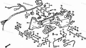 Honda Atv 1985 Oem Parts Diagram For Frame    Wire Harness