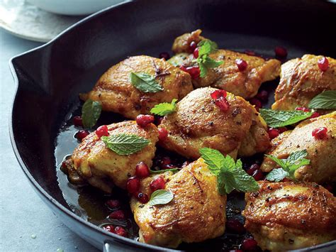 what to do with chicken curried chicken thighs with pomegranate mint sauce recipe myrecipes
