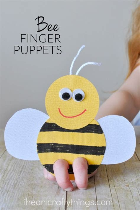 incredibly bee finger puppets craft summer 137 | 413d079ac8a1921ab01ee724cc31345f