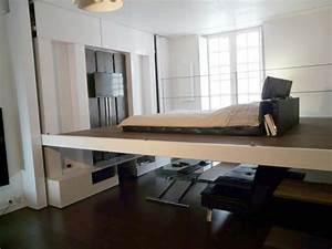Lit Escamotable Plafond : lit qui monte et descend md07 jornalagora ~ Premium-room.com Idées de Décoration